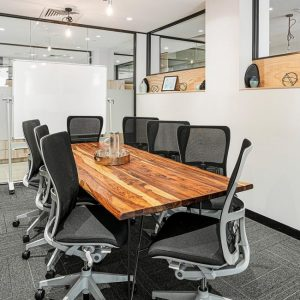 Premium meeting room space catering to 6-24 guests