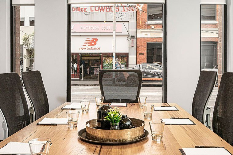 Fully equipped meeting room in Melbourne